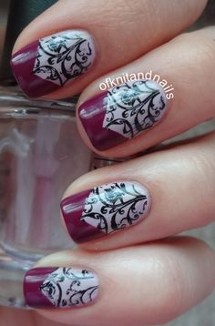 Nails stamping manicure Nails, nailart desing, stamping. Gelish | Nail nail stamps