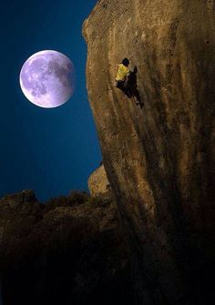 Climbing by moonlight
