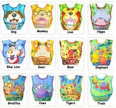 Cute Baby Bib Feeding Bibs Waterproof PVC Cartoon Pattern for Boys' and Girls'   eBay