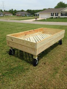 Raised Garden Bed on Wheels