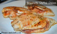 Bruschetta Stuffed Chicken