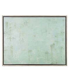John-Richard End of the Day Painting - Soft aqua blue and darker droplets provide a beautiful panel of water color and misty texture