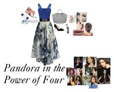 """""""Pandora in the Power of Four"""" by writer2002waystobeme ❤ liked on Polyvore featuring Chicwish, Miss Selfridge, Dolce Lei, Givenchy, Harry Winston, Samsung and LASplash"""
