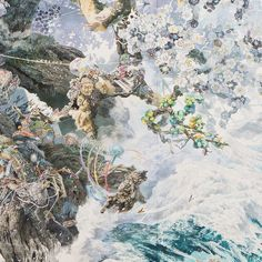 After the 2011 Tōhoku earthquake and the tsunami that followed, Japan was hurting badly, but almost six years later the country has rebuilt. And Manabu Ikeda, a pen & ink artist, went through a similar process with the just recently finished massive drawing called Rebirth.