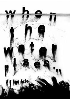 katja schloz when the water rises poster by katja schloz Creative Typography, Typography Prints, Graphic Design Typography, Graphic Design Illustration, Design Graphique, Art Graphique, Cover Design, Design Art, Text Design
