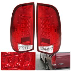 Pair Rear Tail Light Lamp LED Red Clear Lens Left Right Side For Ford F150 F250 F350 >>> Visit the affiliate link Amazon.com on image for more details.