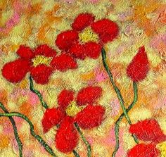 Large 16x20 Modern Folk Art POPPIES by johnblakefolkartist on Etsy John Blake, Folk Art, Poppies, Flora, Original Paintings, Modern, Etsy, Trendy Tree, Popular Art