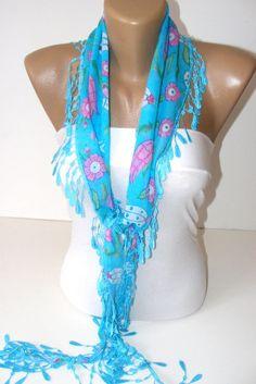 fashion scarvesnew scarf trendscottonblue by scarvesCHIC on Etsy, $12.90
