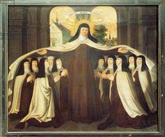 Santa Teresa de Ávila Tapa con su Manto a la Comunidad de Carmelitas en Carmelitas Descalzas, Alba de Tormes