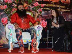 Saint Gurmeet Ram Rahim with daughter Amarpreet Insan during MSG - The Messenger music launch