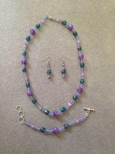 The Penelope Collection is a crazy-fun combination of Lilac and Teal beads that is sure to stand out!!  Penelope A