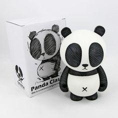 Panda Classic Designer Vinyl Toy Figure by Cacooca Toy Art, Vinyl Toys, Vinyl Art, 3d Character, Character Design, Character Concept, Vinyl Figures, Action Figures, Panda Love