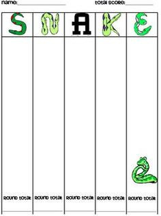 for playing Snake, a whole class dice game. Can be used with addition or multiplication. Looks like fun.Directions for playing Snake, a whole class dice game. Can be used with addition or multiplication. Looks like fun. Math Classroom, Kindergarten Math, Teaching Math, Classroom Ideas, Teaching Ideas, Math Teacher, Teaching Tools, Math Resources, Math Activities