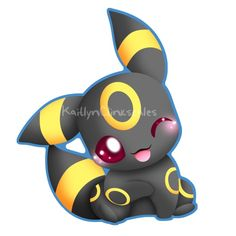 Umbreon looks so cute in this picture!