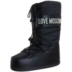 Love Moschino Winter boots ($160) ❤ liked on Polyvore