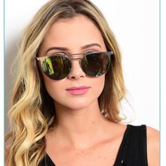 Choice Of Fashion Sunglasses With Case Fashion sunglasses. Choice of colors. 100% UVA protection. Mirrored effect. Multi colors. Comes with case. Price firm unless bundled. Accessories Sunglasses