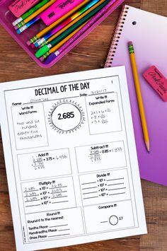 Teaching Decimals, Teaching Math, Maths, Teaching Ideas, Math Classroom, Future Classroom, Classroom Ideas, Math Resources, Math Activities