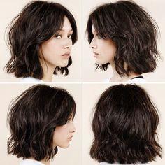 Shaggy wavy hairstyle inspired by alexa chung