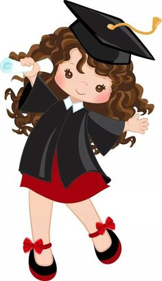 Graduation Clip Art, Graduation Crafts, Kindergarten Graduation, Graduation Decorations, School Decorations, Art Graphique, Pre School, Cute Cartoon, Kids And Parenting