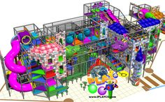 Castle themed indoor play structure design by International Play Company.  We design, manufacture and install worldwide.  We have been creating FUN since 1999.  #weCREATfun #weBUILDfun Contact us at sales@iplayco.com for more information. Great design for a family entertainment center.