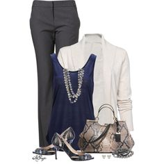 """""""Casual Fall Office Style"""" by kginger on Polyvore"""