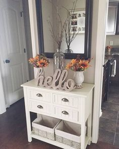 White Beadboard Console Table in Kitchen | Kirkland's #fairfieldgrantswishes