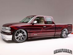 , his desire to have a custom car never changed but the style he wanted to build did. Check out his 2000 Chevrolet Silverado here! 2000 Chevy Silverado, Custom Silverado, Custom Chevy Trucks, Old Ford Trucks, Chevy Pickup Trucks, Chevy Silverado 1500, Chevy Ss, Dropped Trucks, Lowered Trucks