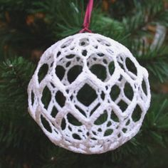 Crochet Ball Ornament | CraftPenguin.com