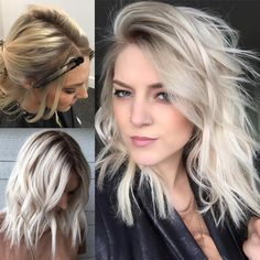 Yes, i identify as as naturally blond even though i dye my hair.discover the beautiful trends of shadow blonde ombre hair color ideas for women to sport in Brown Blonde Hair, Platinum Blonde Hair, White Blonde, Blonde Ombre, Blonde Color, Ombre Hair, Short Hair Cuts, Short Hair Styles, Hair Color And Cut