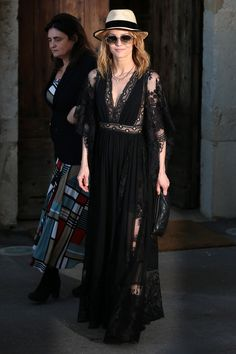 Vanessa Paradis in ELIE SAAB Ready-to-Wear Spring Summer 2016 at the Mayor's lunch given in honour of the media during the 69th International Cannes Film Festival.
