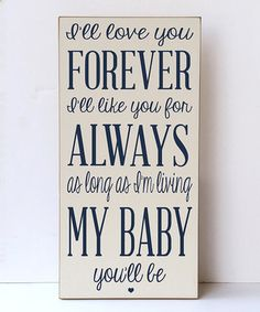 Cream & Navy 'Love You for Always' Wall Sign