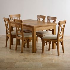 Solid Oak Dining Table Check more at http://casahoma.com/solid-oak-dining-table/10680