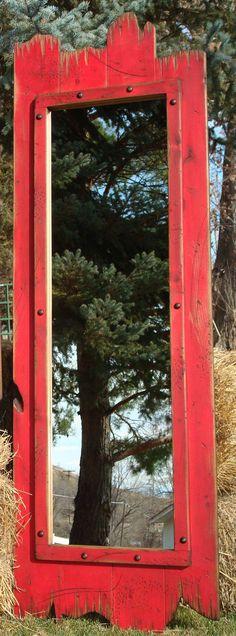 Full-Length Barnwood Mirror made of real pine wood.  Dressing room mirror, Closet mirror,Bathroom Mirror on Etsy, $270.64 CAD