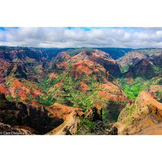 The vibrant colors of Waimea Canyon. Photo courtesy of camchowda on Instagram.