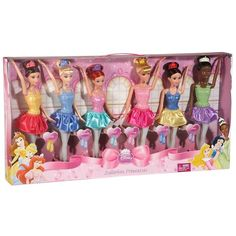 Disney Princess Ballerina Princesses Doll Set by Mattel ($40) ❤ liked on Polyvore
