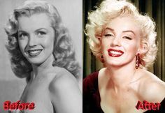 Marilyn Monroe Before and After Cosmetic Surgery
