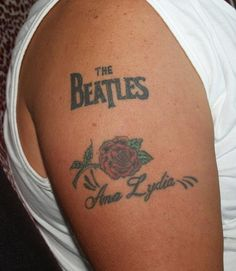 1000 images about tattoos on pinterest beatles tattoos crazy tattoos and beatles. Black Bedroom Furniture Sets. Home Design Ideas