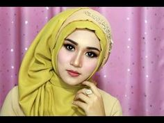 Tutorial Make Up Dan Hijab Sege Empat Semple Mewah, Hijab Pesta, Hijab Kndangan,hijab Wisuda-1 - YouTube