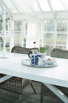 Fika i vårt orangeri Sweden, Dining Table, Live, Furniture, Home Decor, Dining Room Table, Decoration Home, Room Decor, Home Furniture