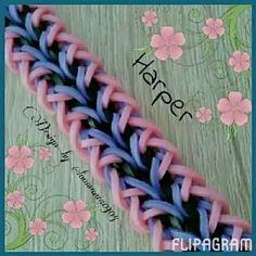 FLIPAGRAM TIME harper rainbow loom hook only bracelet.  See full video at flipagram.com/loomania0304