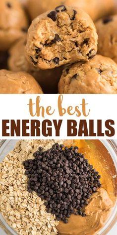 #HealthyFoodIdeas Healthy Protein Snacks, Protein Bites, Healthy Sweets, Vegan Snacks, Snack Recipes, Cooking Recipes, Protein Cookies, Protein Power Balls Recipe, Paleo Protein Balls