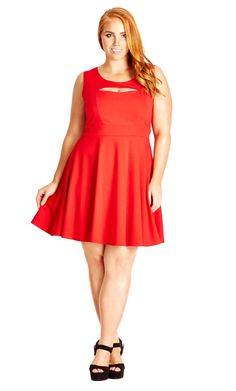 6da0b74f9d1 Flaunt your feminine charm with this plus size peekaboo dress this  Valentine s Day!  romance