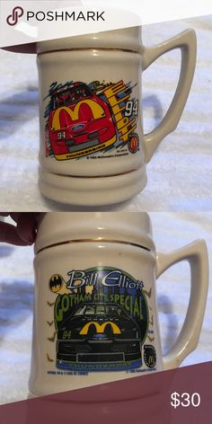 🎄Bill Elliott NASCAR Steins🎄 Two Bill Elliott NASCAR Steins.  Both are in excellent condition.  These would make an excellent gift for a NASCAR fan. Other