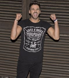 You're an all star: Ben Haenow was in high spirits as he headed home after a successful week