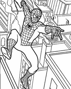 spiderman picture coloring 12 - games the sun | games site flash