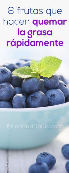 8 frutas que hacen quemar la grasa rápidamente #frutas