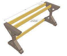 Ana White | $55 Fancy X Desk - DIY Projects