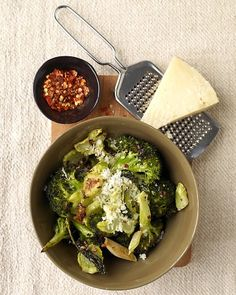 Roasted broccoli with Manchego...from Martha's Quick Veggie side dish recipes. Like 100 of them.