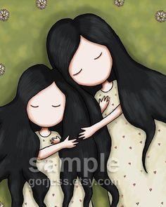 Daughters  8 x 10 Giclee Fine Art Print  Gorjuss Art by gorjuss, $18.00
