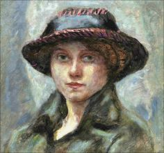 Pierre Bonnard (1867-1947) Tête de femme au chapeau